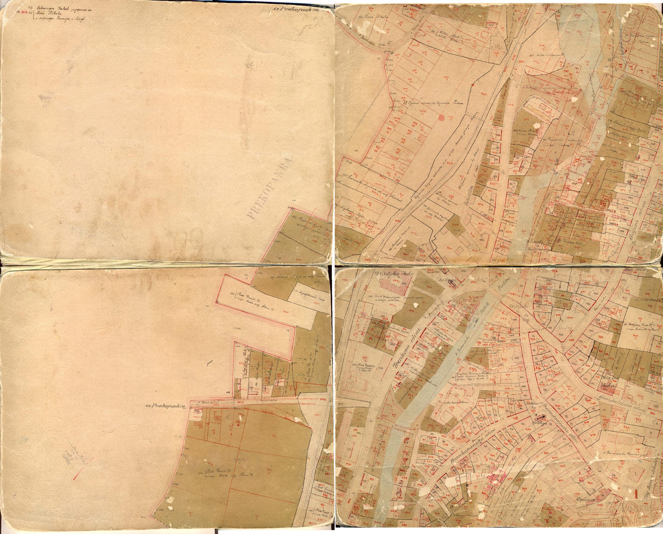 Katastarska izmjera Pakraca iz 1915.