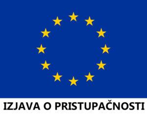 Izjava o pristupačnosti Muzeja grada Pakraca. Zastava Europske unije.