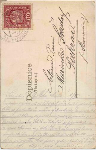 Razglednica iz albuma Pakračanina Luje Šnedorfa poslana za vrijeme njegovog služenja u austrougarskoj vojsci tijekom Prvog svjetskog rata.