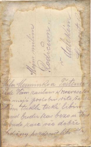 Pakračanina Luje Šnedorfa  poslana za vrijeme njegovog služenja austrougarskoj vojsci tijekom Prvog svjetskog rata