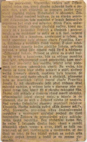 Članak iz albuma Pakračanina Luje Šnedorfa
