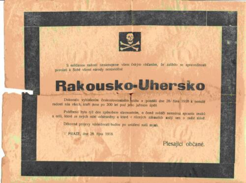 Osmrtnica iz albuma Pakračanina Luje Šnedorfa
