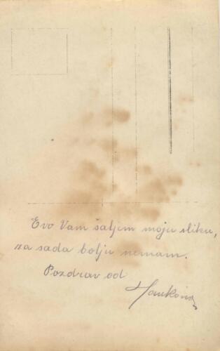 Razglednica iz albuma Pakračanina Luje Šnedorfa poslana za vrijeme njegovog služenja u austrougarskoj vojsci tijekom Prvog svjetskog rata