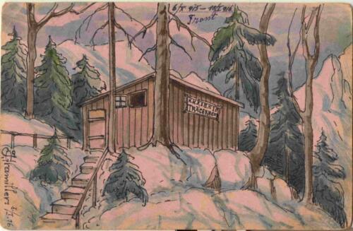 Razglednica iz albuma Pakračanina Luje Šnedorfa nastala za vrijeme njegovog služenja u austrougarskoj vojsci tijekom Prvog svjetskog rata