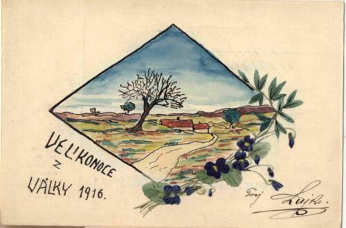 Dopisnica iz albuma Pakračanina Luje Šnedorfa poslana za vrijeme njegovog služenja u austrougarskoj j vojsci tijekom Prvog svjetskog rata